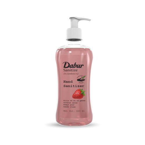 Dabur Hand Sanitizer Strawberry Fragrance | 60% Alcohol - 500 ml