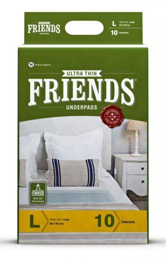 FRIENDS Classic Underpads - Unisex Adult Changing Mats - Size = 60 X 90 Cm - L - 10 Pcs