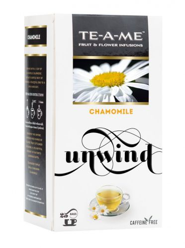 TE-A-ME Chamomile Fruit and Flower Infusion, 25 Tea Bags (2 Flavored Bags Free)