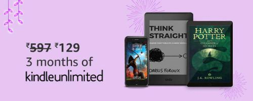 Kindle Unlimited: 3 Month Subscription worth Rs.59...
