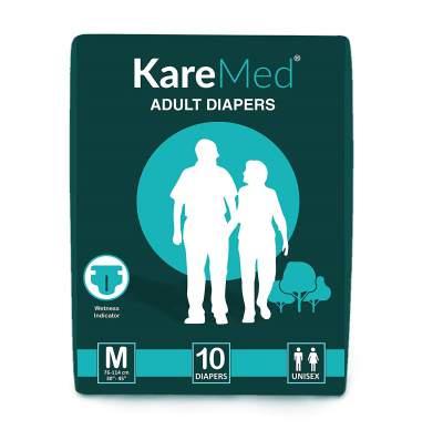 Kare Med Adult Diapers - Medium 10 Count (76cm - 114cm)