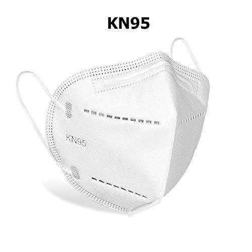 Abode KN95 MASK Disposable Pollution Elastic Mask Disposable, Face Mask with Earloop Great for Air Pollution Protection & Personal Health Face Mask, Pack of 5