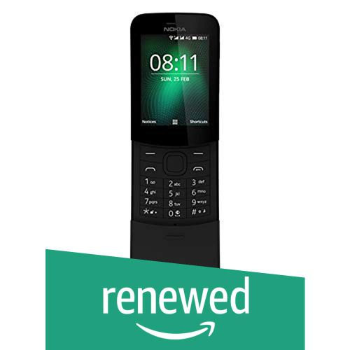 (Renewed) Nokia 8110 4G (Black)
