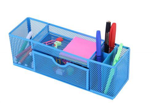 Callas Metal Mesh Desktop Organizer, CA17031, Blue