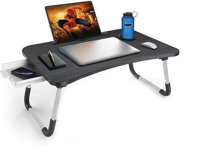 Callas Multipurpose Foldable Laptop Table with Cup Holder, Study Table, Bed Table, Breakfast Table, Foldable and Portable/Ergonomic & Rounded Edges/Non-Slip Legs, CA025B