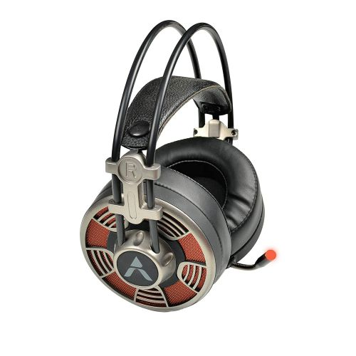 Adcom Vision 7.1 USB Noise Cancelling Super Gaming Headphone with Omnidirectional Mic, Cool LED, 50mm Drivers, 7ft Long Braided Cable and Volume Control Button (Steel Grey)