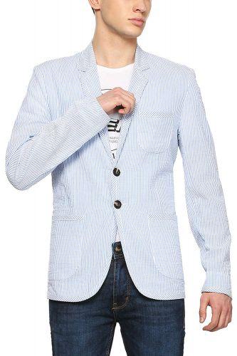 People Men's Notch Lapel Regular fit Blazer
