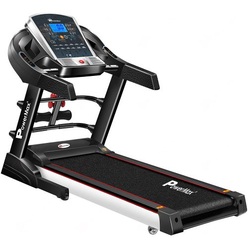 PowerMax Fitness TDM-125S 2HP (4HP Peak) Motorized Treadmill with Free Installation Assistance, Home Use & Automatic BMI Calc.