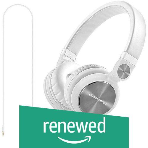 (Renewed) Energy Sistem DJ2 Energy Headphones with Mic (White)