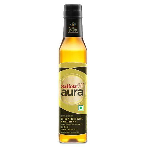 Saffola Aura Extra Virgin Olive & Flaxseed Oil, 250 ml