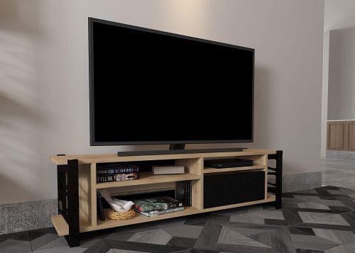 Bravo Home Loop TV Unit (Oak and Black)