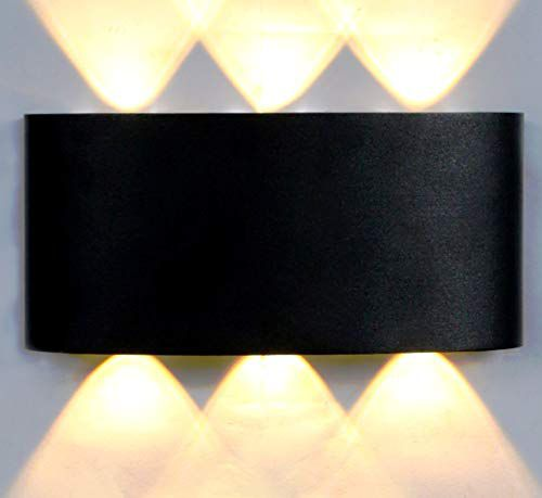 Tu Casa Black Finish in Aluminium Casting 6 Light Indoor/Outdoor Wall Lamp