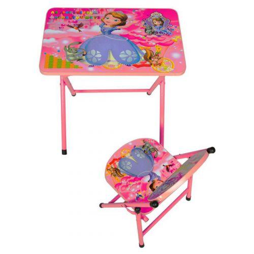 Woodness Cameron Basic Kids Study Desk Chair (Glossy Finish, Pink)