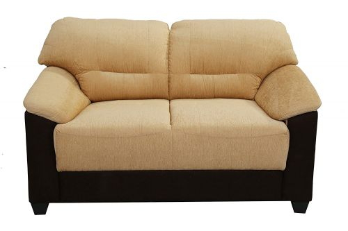Muebles Casa Colton Two Seater Sofa (Beige and Brown)