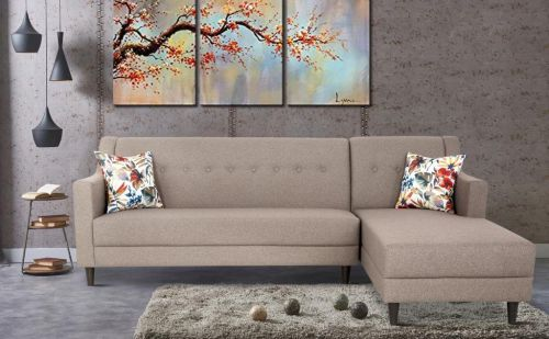 Urban Living Derby Sofa LH_ Brown Five Seater Sectional Sofa Set (Brown)