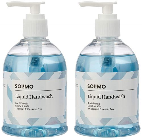 Amazon Brand - Solimo Handwash Liquid, Sea Minerals - 250 ml (Pack of 2)