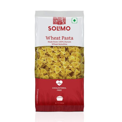 Amazon Brand - Solimo Durum Wheat Farfalle Pasta, 500g