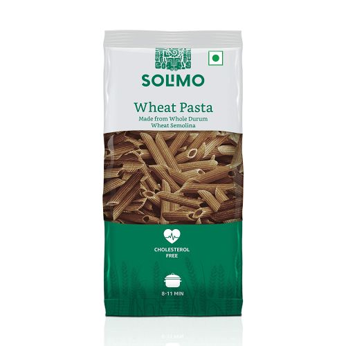 Amazon Brand - Solimo Whole Wheat Penne Pasta, 500g