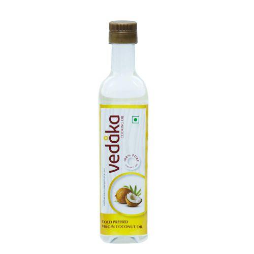 Amazon Brand - Vedaka Cold Pressed Virgin Coconut Oil Bottle, 500 ML