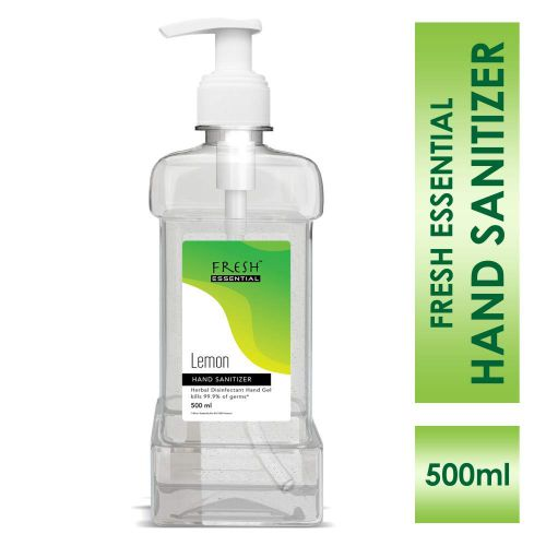 Fresh Essential Hand Sanitizer (60.8% w/w Ethyl Alcohol) - 500 ml (Lemon)