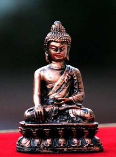 Craft Junction Handcrafted Lord Buddha Idol for gift & home Decor Decorative Showpiece