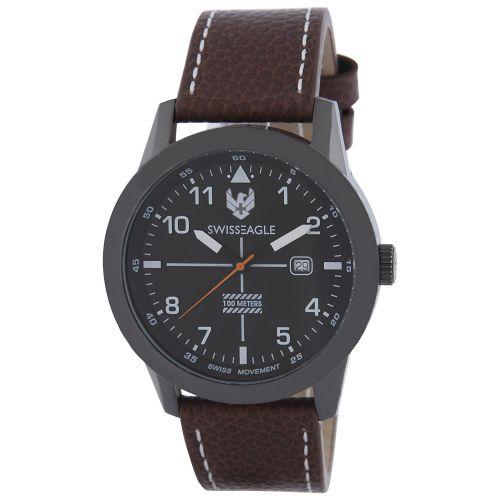 Swiss Eagle Analog Black Dial Men's Watch - SE-9122-04