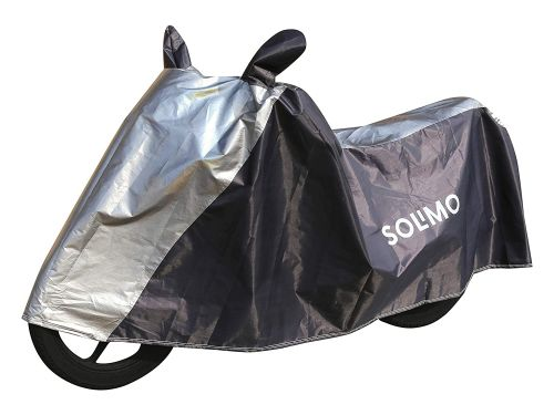 Amazon Brand - Solimo Universal Bike UV Protection & Dustproof Bike Cover (Dark Blue & Silver)