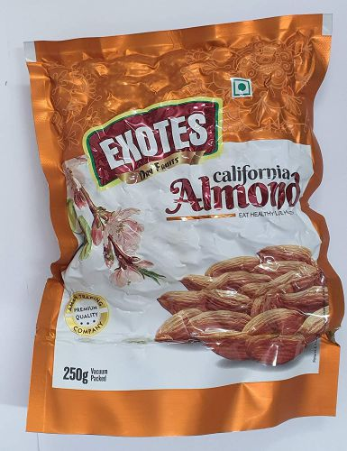Exotes Popular Almonds Vacuum Pouch Pack of 4 (250g x4)
