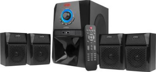 Artis MS 444 4.1 Ch Wireless Multimedia Speaker System With Fm/aux/usb Bluetooth Home Audio Speaker 60 W Bluetooth Home Theatre (Black, 4.1 Channel)
