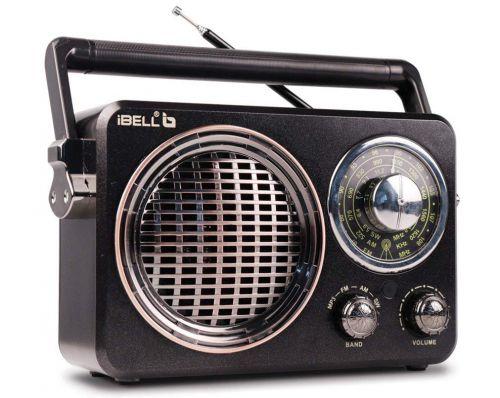 iBELL FM730BT Portable FM Radio with Bluetooth Speaker, USBSDMP3 Player & Dynamic Speaker 3 Band, Black