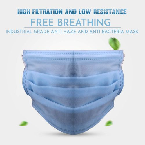 Thump TH0002 3 Ply Non Surgical Disposable Face Mask with Nose Pin 25 GSM Unisex Nose Mouth Protection Cover with Non-woven Fabric (25 Pcs)
