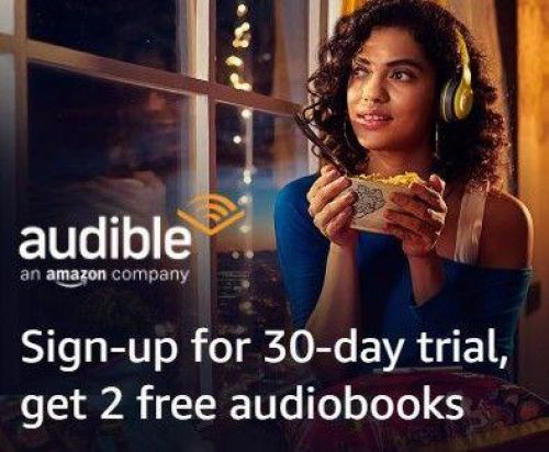 2 Books Credit with Audible for Non-Prime Members