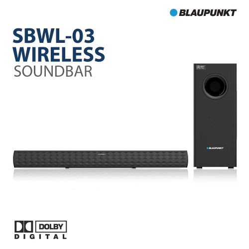 Blaupunkt SBWL03 250W 2.1 Channel Dolby Soundbar with Wireless Subwoofer, HDMI ARC Connectivity and Adaptive EQ Modes