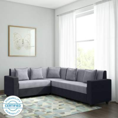 Bharat Lifestyle Cosmo Plus Fabric 6 Seater Sofa  ...