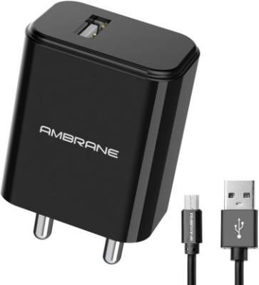 Ambrane AWC- 65 10.5 W 2.1 A Mobile Charger with D...