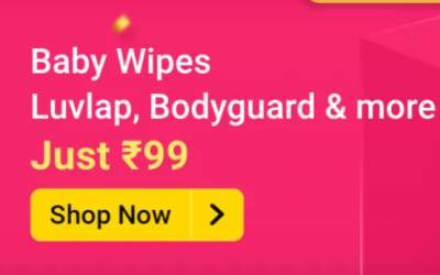 Flash Sale [1pm to 2 pm] | Baby Wipes at 99