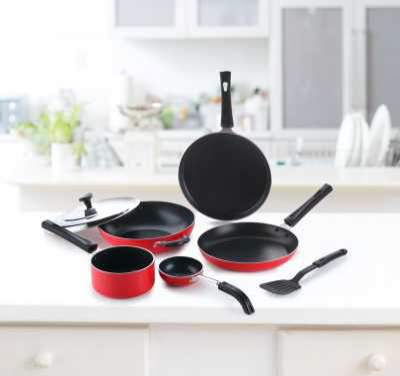 Crystal CLASSIC Series Cookware Set  (PTFE (Non-stick), 7 - Piece)