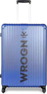 WROGN Large Check-in Luggage (75 cm) - BOLT- Bright Blue - Blue