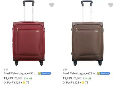Vip Suitcases Upto 82% Off...