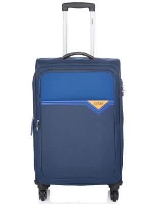 Safari Polyester 78 cms Blue Softsided Check-in Lu...