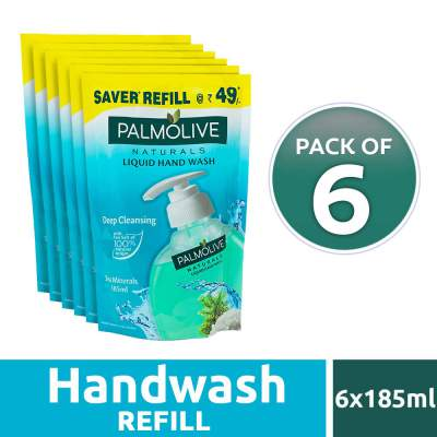 Palmolive Naturals Sea Mineral Handwash Refill - 185 ml (Pack of 6)