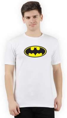 TRUS TEE Printed, Superhero Men Round Neck White T-Shirt