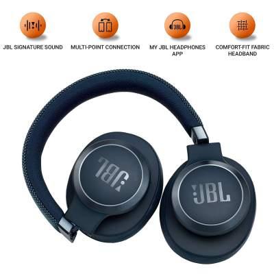 (Renewed) JBL Live 650BTNC Wireless Over-Ear Noise-Cancelling Headphones