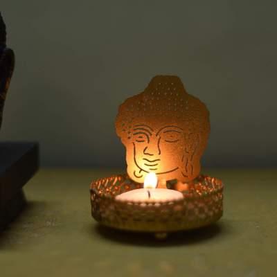 eCraftIndia Lord Buddha Tea Light Holder