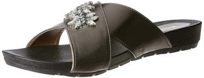 BATA Women's Dido White Slippers