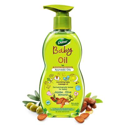 Dabur Baby Oil: Nourishing Baby Massage Oil Enriched with Baby Loving Ayurvedic Herbs- 500ml