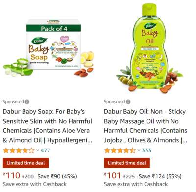 Dabur Baby Care Products Upto 55% Off...