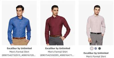 Excalibur by Unlimited Men's Formal Shirt Starts a...