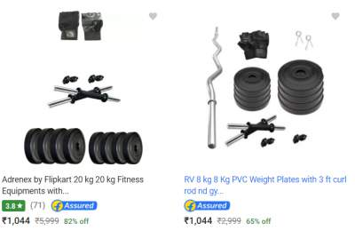 Home Gym Items Upto 82% Off...