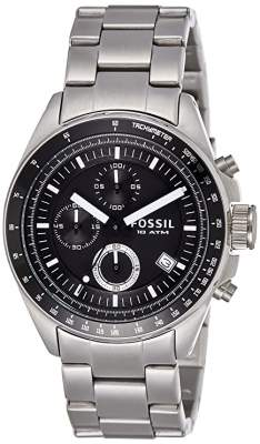Fossil Decker Chronograph Analog Black Dial Mens W...